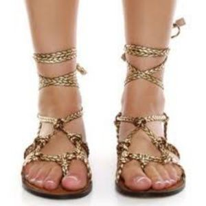 Miss Me? Numa braided & knotted gladiator sandal